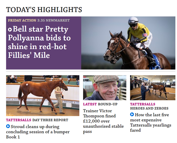 Racing Post Tipster Content