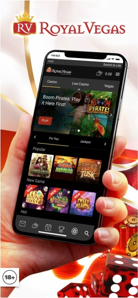 Royal Vegas- The best mobile app to play slots in Ireland