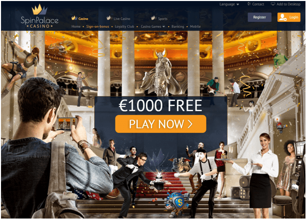 Spin Palace casino Euros