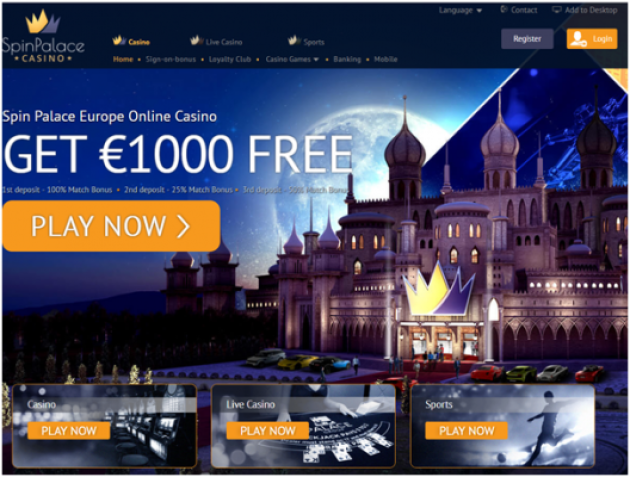 Spin Palace Casino Ireland