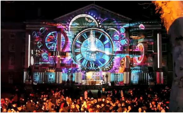 Celebrating New Year Eve 2019-2020 in Dublin Ireland