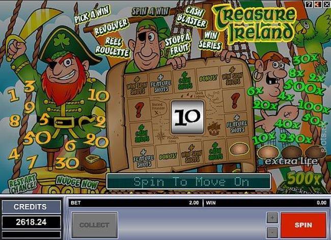 treasure ireland bonus map