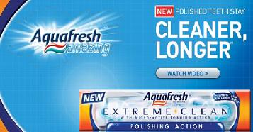 Free Samples of Aquafresh Extreme Clean From Walmart