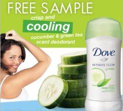 Free Samples of Dove Go Fresh Deodorant