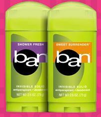 Free Samples of Ban Mini Sticks Deodorant