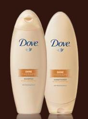 Free Samples of Dove Shine Therapy Shampoo & Conditioner