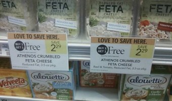 Free Athenos Feta Cheese at Publix