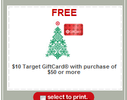 Free $10 Target Gift Card with a $75 Purchase