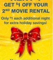$1.00 off Second Movie Rental from Blockbuster Express