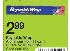 Reynolds Wrap Coupons + Store Deals