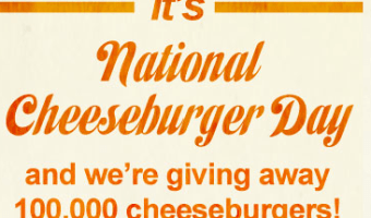 Free Ruby Tuesday Cheeseburger for National Cheeseburger Day