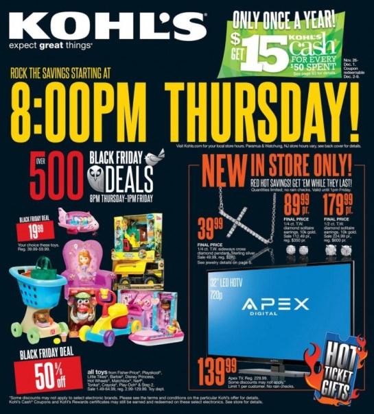 Kohls Black Friday 2013 Ad Scan and Deals