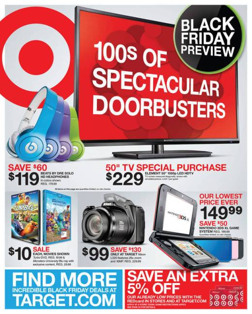 Target Black Friday 2013 Ad Scan and Deals