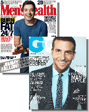 Men's Health and GQ Magazines