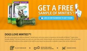 Free Samples of Vet IQ Minties Dental Treats For Dogs