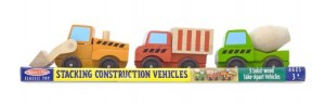 Melissa and doug stacking construction cars
