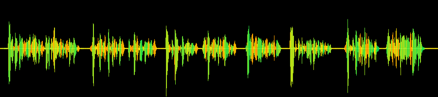 Soundwave of a recording of the poem