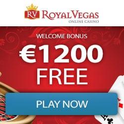 Royal Vegas Casino €1,200 gratis (300% bonus) and 100 free spins