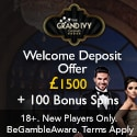 Grand Ivy Casino 200 free spins and $1500 welcome bonus