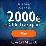 Casino X - 2000€ free bonus and 200 gratis spins - fast cashout!