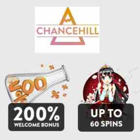 Chance Hill Casino 25 no deposit free spins on Hugo, Spinions, Joker Pro