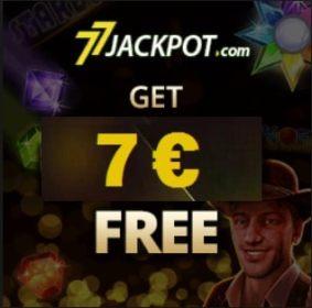77 Jackpot Casino €7 free spins & 900% up to €3000 free bonus codes