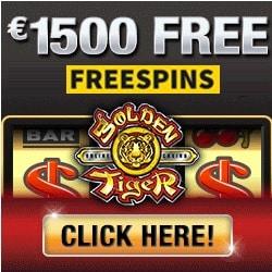 Golden Tiger Casino 100 free spins & 300% up to €1500 bonus