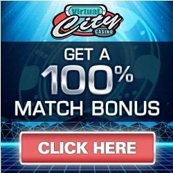 Virtual City Casino 50 free spins and €/$500 free play bonus