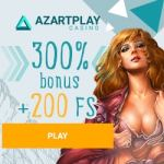 Azart Play Casino 300% free bonus and 200 free spins – play now!