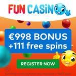 FUN Casino 11 gratis spins + €/£/$998 free bonus + 100 free spins