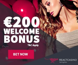 React Casino Review - 1000 free spins bonus on video slot games!