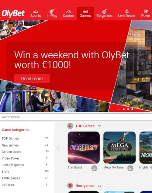 Olybet Casino Review