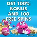 Vera John Casino 100 free spins and 100% welcome bonus