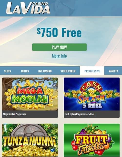 La Vida Casino free spins bonus