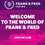 Frank & Fred Casino 100 free spins no deposit bonus - Netent Wheel!