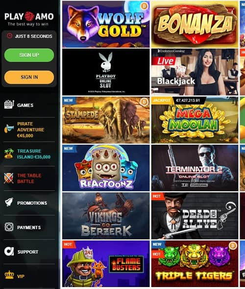 Playamo Casino Online and Mobile