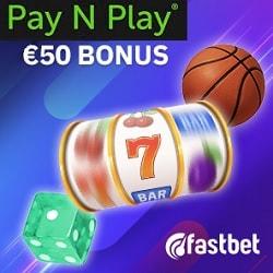 Fastbet Casino & Sportsbook - €50 bonus & gratis spins (Trustly)