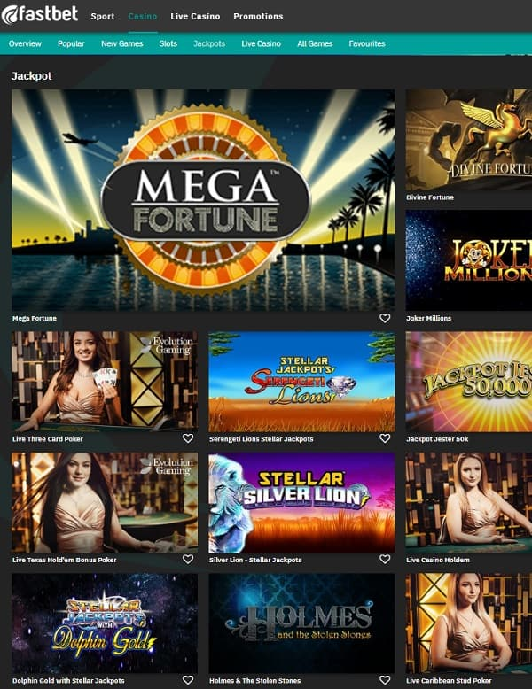 Fastbet Casino & Sportsbook games Review