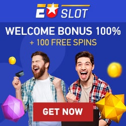 Euslot Casino 100% bonus & 100 free spins after 1st deposit