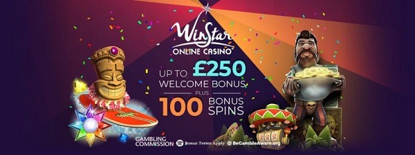 Winstar Casino 100 free spins and 100% welcome bonus