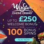 Winstar Casino 100 free spins and 100% up to $/£/€250 bonus