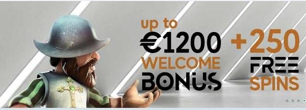 GoPro Casino 1200 free bonus