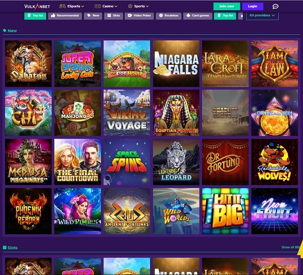 VulkanBet Casino, Sports and Live Dealer Review