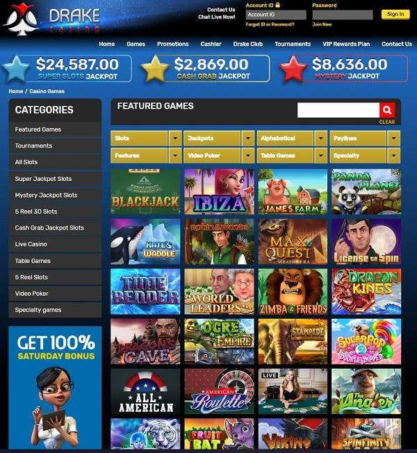 Drake Casino Online & Mobile