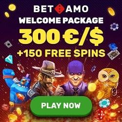 Betamo Casino 150 gratis spins and €/$300 free bonus