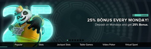 25% reload bonus for depositors
