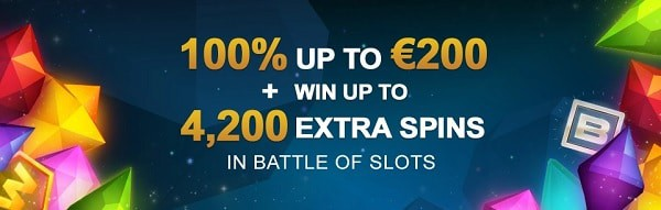 4200 extra spins in Battle of Slots every week