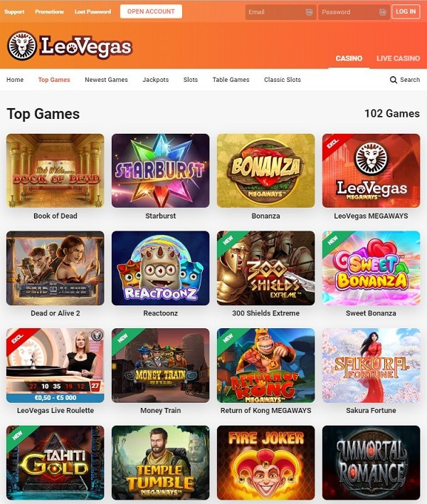 LeoVegas Casino Overview