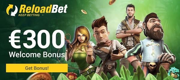 300 EUR casino bonus and 120 EUR sports bonus
