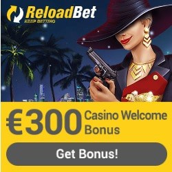 ReloadBet 100% bonus + €50 free bet